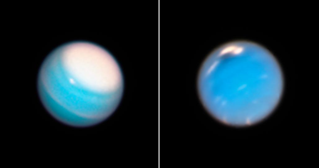Hubble Space Telescope views of Uranus, Neptune