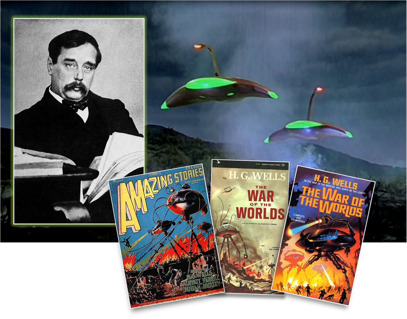 H.G. Wells created the alien invasion genre