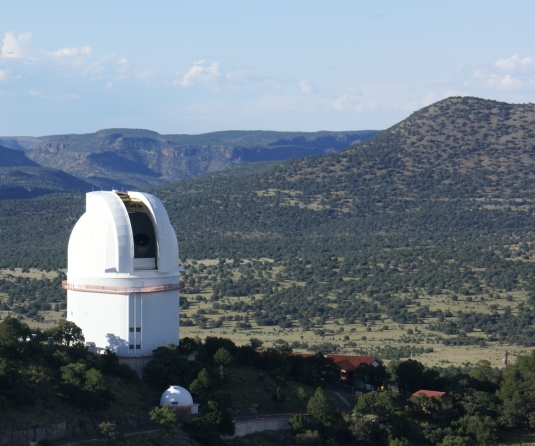 Astronomers are using the Harlan J. Smith Telescope at McDonald Observatory to hunt for exoplanets