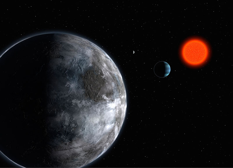 Artist's concept of Gliese 581