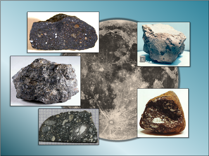 Collage of lunar meteorites