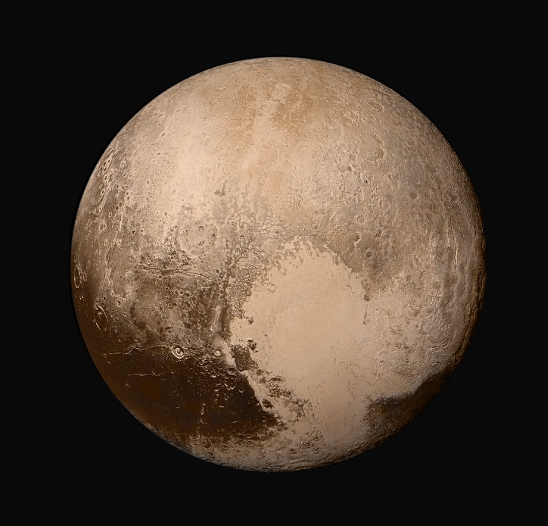 New Horizons view of Pluto, July 2015