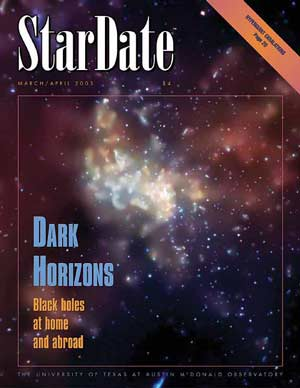 StarDate magazine mar/Apr 2003 cover