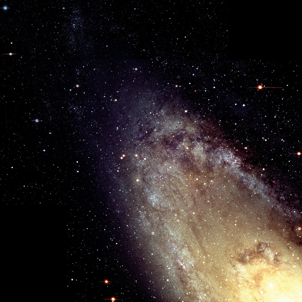 Close up of Andromeda galaxy.