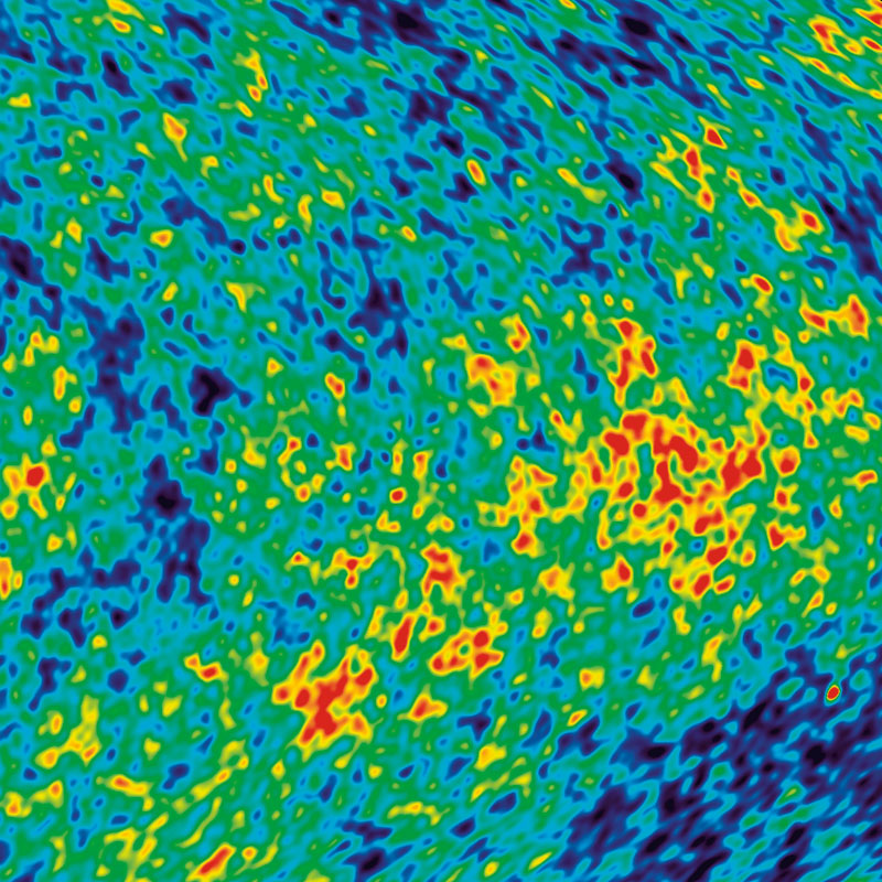 "Tiny variations in the ""afterglow"" of the Big Bang are shown as different colors"