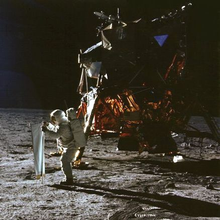Apollo 11 astronaut Edwin Aldrin on the Moon