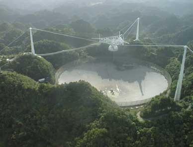 Arecibo Observatory in Puerto Rico, which was used for Project Phoenix