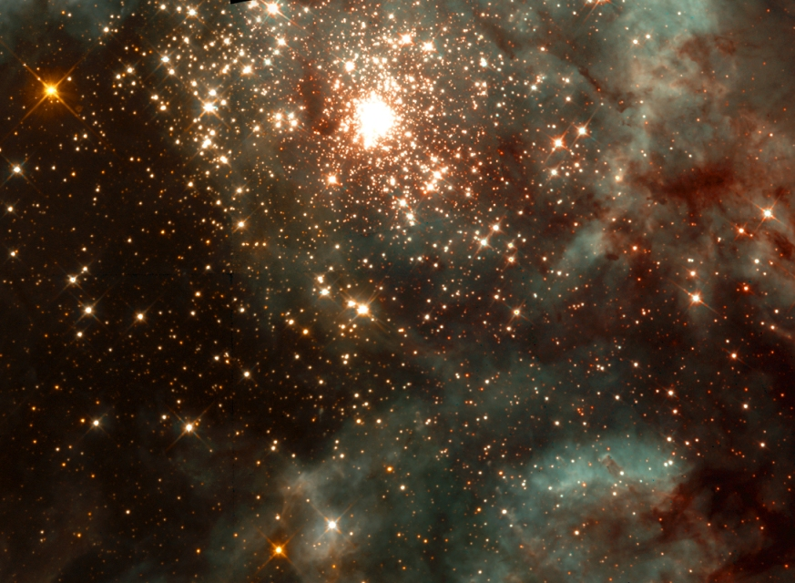 Young stars fill a stellar nursery