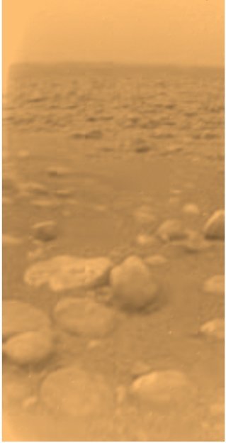 Huygens image of surface of Titan