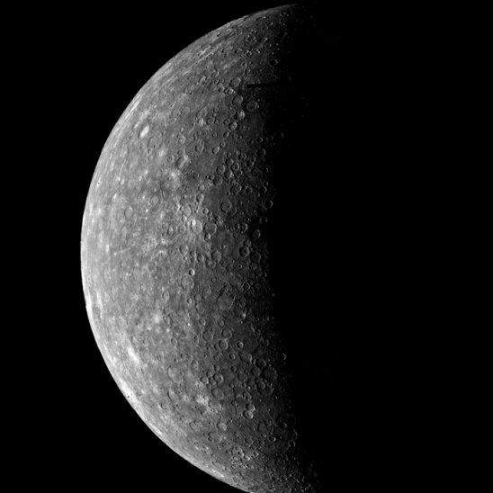 Mariner 10 view of Mercury