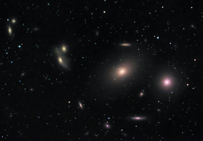 A few galaxies of the Virgo Cluster
