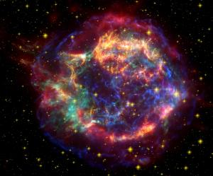 Multi-spectral view of Cassiopeia A, a supernova remnant