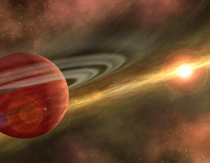 Artist's concept of a young Jupiter-like planet