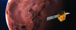 Hope spacecraft orbiting Mars