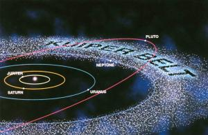 Diagram shows the location of the Kuiper Belt