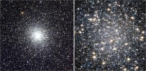 Two views of Messier 22