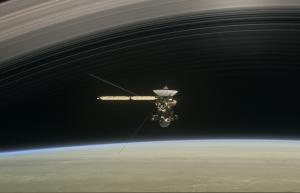 Cassini flies between Saturn and its rings