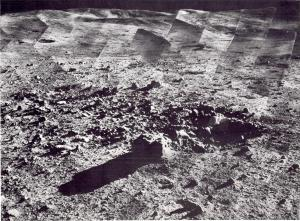 A panorama of the landing site around Surveyor 7