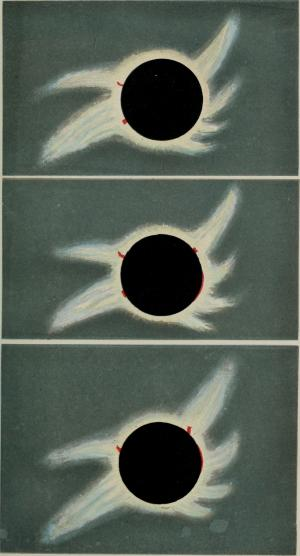 Sketches of the total solar eclipse of August 1868
