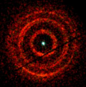 X-ray image of light echoes from V404 Cygni