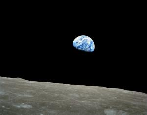 Earthrise above the Moon, Apollo 8, December 24, 1968