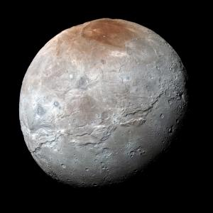 Enhanced-color image of Charon from New Horizons