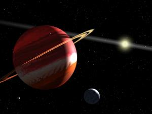 Artist's concept of Epsilon Eridani b, one of the closest exoplanets to Earth