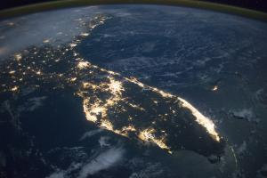 Nighttime view of Florida from the International Space Station