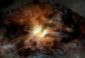 Artist's concept of the galaxy WISE 2246