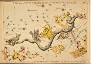 Hydra and surrounding constellations