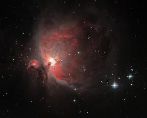 Orion Nebula and the star system Iota Orionis