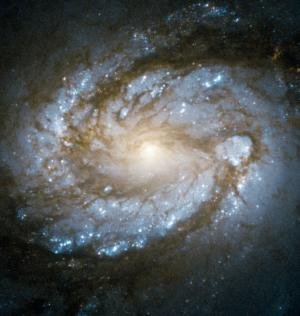 Hubble Space Telescope view of galaxy M100