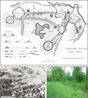current and historic images of the newark earthworks in ohio