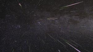2009 view of Perseid meteors