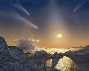 Artist's concept of a planet orbiting the star Tau Ceti