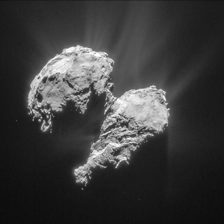 Rosetta view of Comet Churyumov-Gerasimenko on March 22, 2015