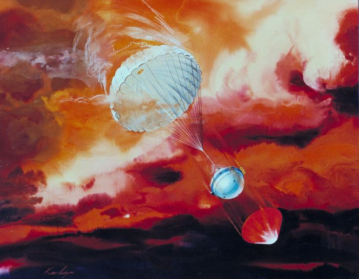 Artist's concept of Galileo Jupiter probe