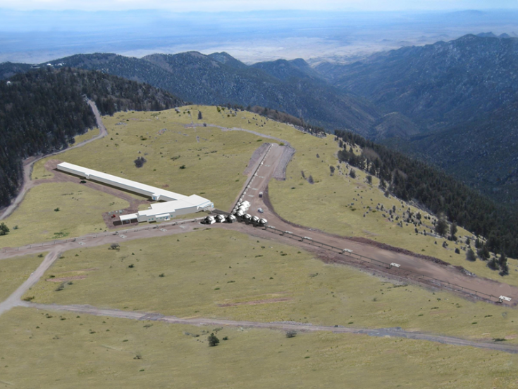 Artist's concept of completed Magdalena Ridge Observatory Interferometer