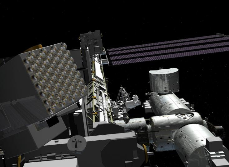 NICER X-Ray Telescope Attached to International Space Station