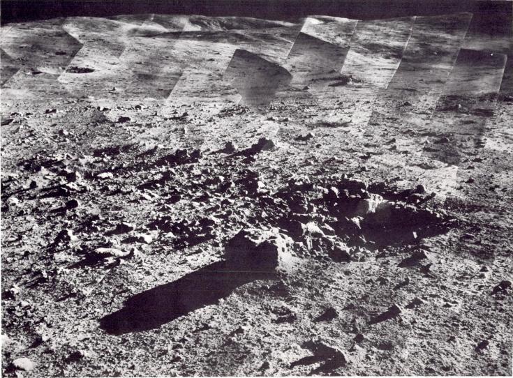 A panorama of the landing site around Surveyor 7
