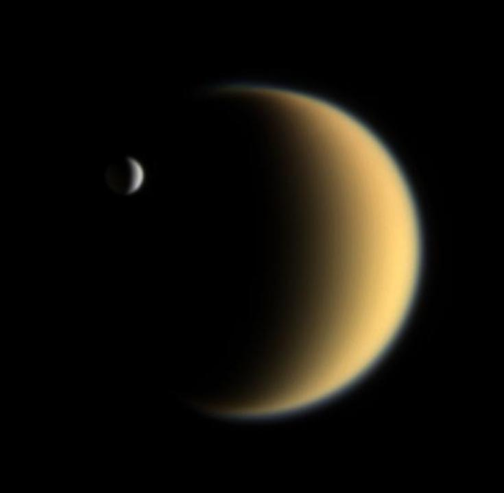 Titan and Enceladus