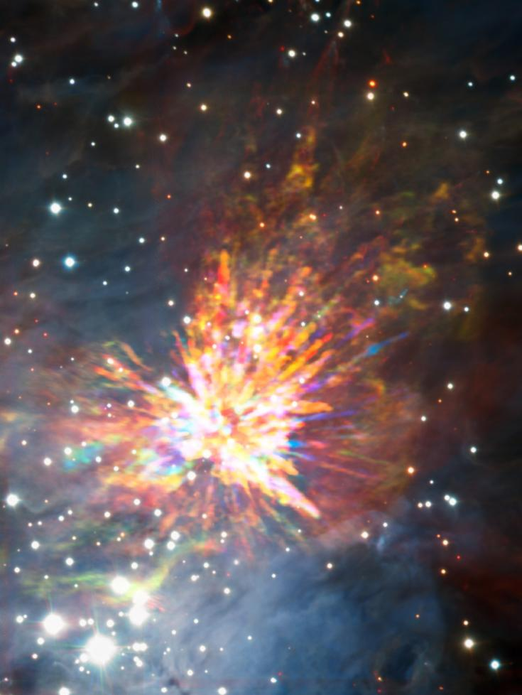 ALMA view of an explosion in the Orion Nebula