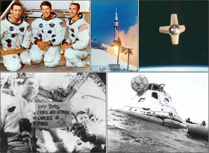 Images from Apollo 7