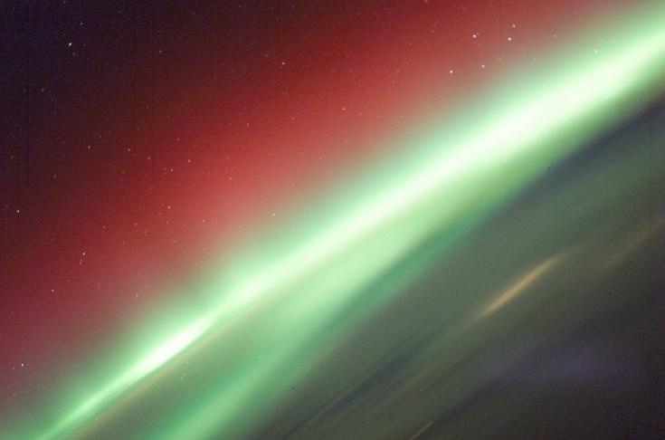 A brilliant aurora from the International Space Station