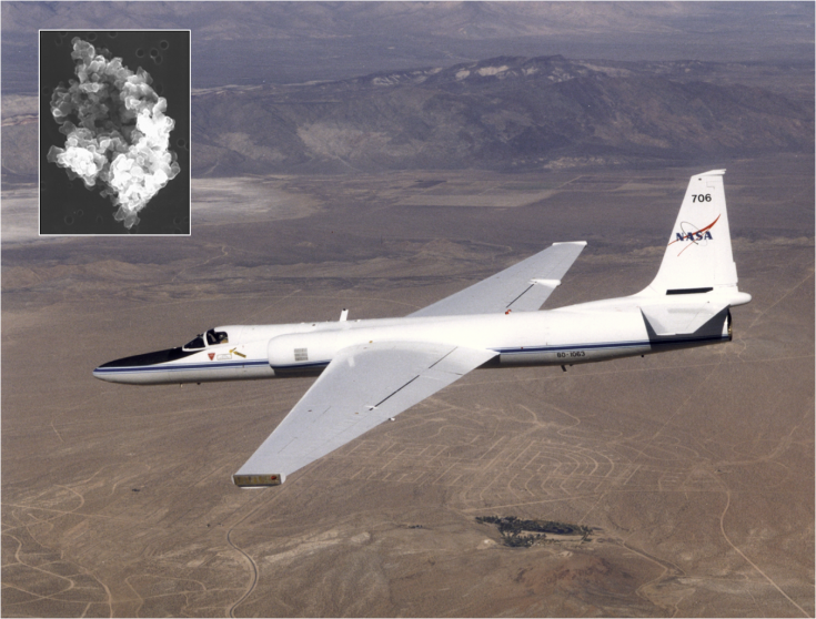 Space-dust collecting aircraft