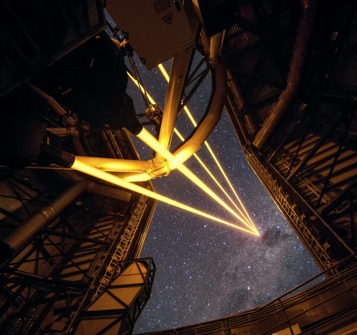 Laser adaptive optics system in Chile
