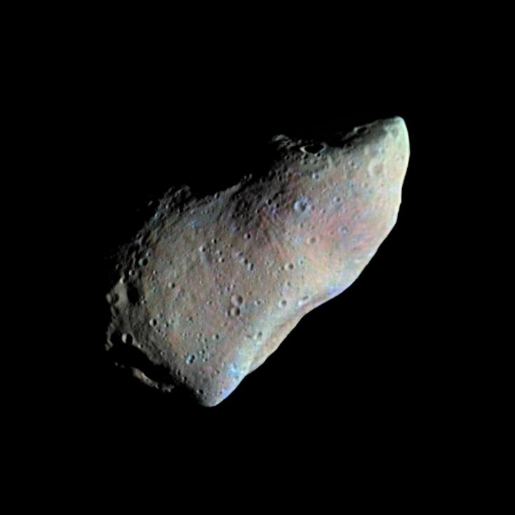 Galileo view of the asteroid Gaspra
