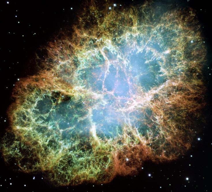 Hubble view of the Crab Nebula