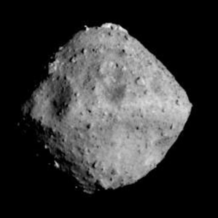 Hyabusa-2 view of asteroid Ryugu, June 24, 2018