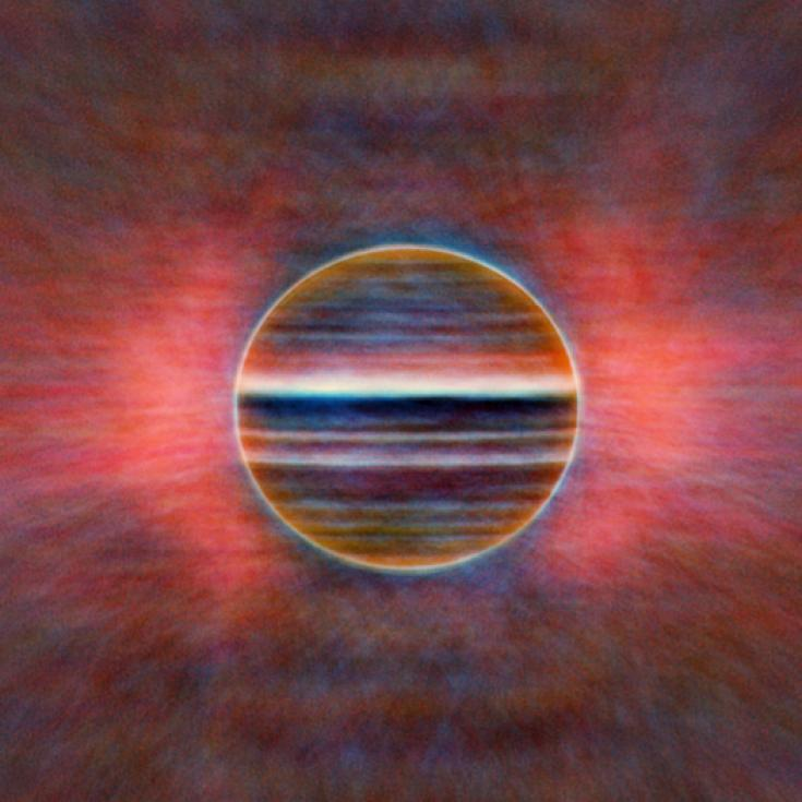 Radio image of Jupiter